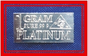 1 GRAM 99.9 Pure Platinum Bullion Bar