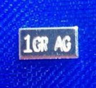 1 Grain 99.9 Fine SILVER Bullion Bar
