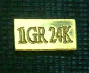 1 Grain 24K 99.99 Fine Gold Bullion Bar